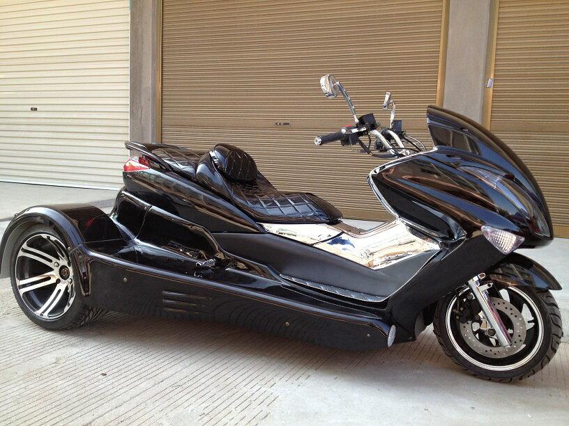 NEW!マジェトライクカスタム水冷250cc バック付 ブラウン ホワイト ブラック