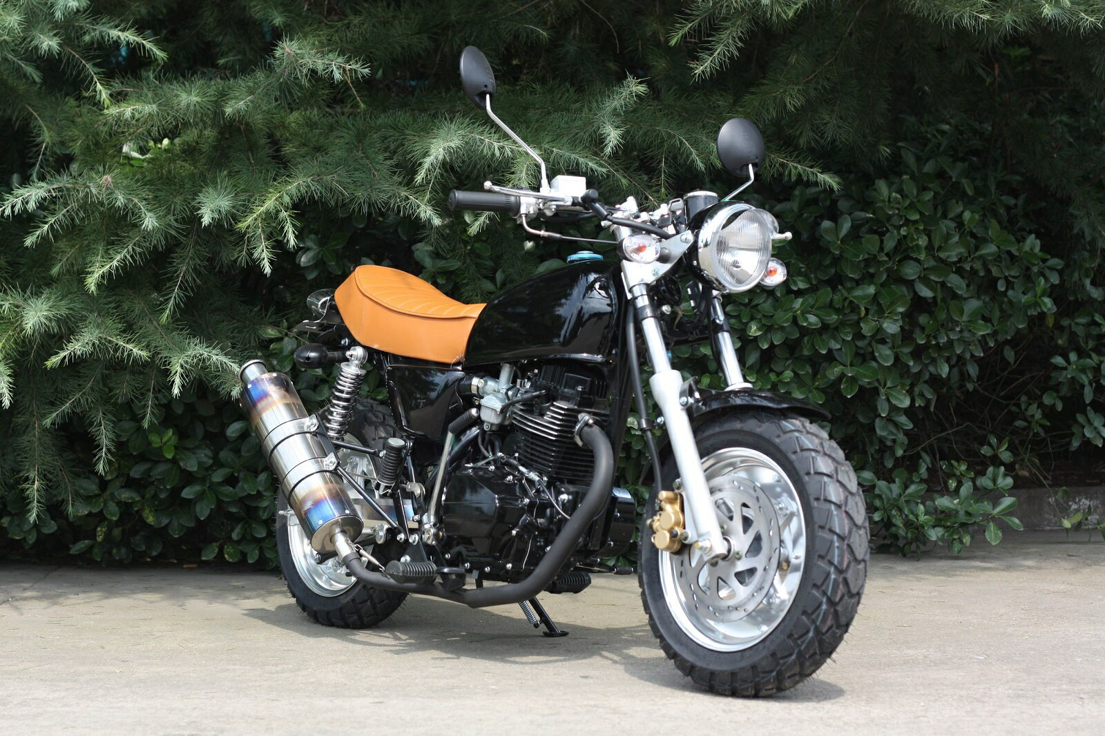 エイプ風 125ccバイク セル、クラッチ付