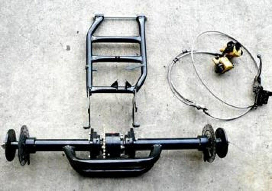 バギー用Wディスク、デフ付シャフト&スイングアーム、ブレーキセット
