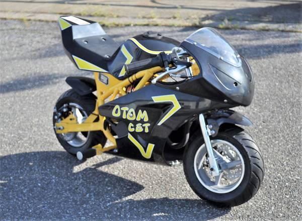 Newエンジン搭載 レーシングポケバイ ミニバイクHS608 黒黄色