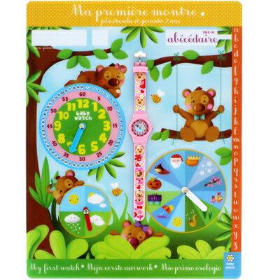 ベビーウォッチ babywatch AB001子供用腕時計 キッズウォッチ【はじめての時計入門】 くま&お花 アベセデール