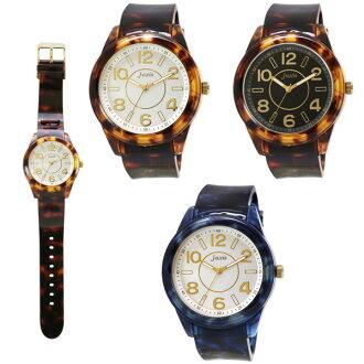 Tortoise shell-like rubber watch watch men gap Dis watch unisex type entrance to school present
