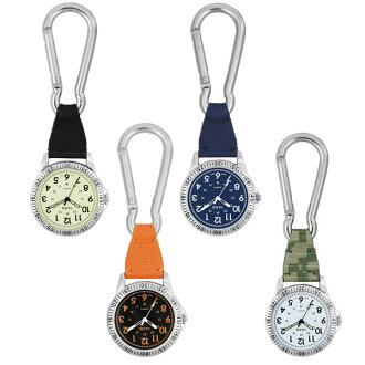 The packet clock pocket watch carabiner hook watch Kahn King watch which  says