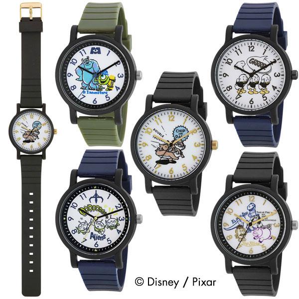J-AXIS ディズニー 腕時計 レディース キッズ kids Watch キャラクターウォッチ 子供腕時計 WD-H02 モンスターズ・インク チップ&デール ヒューイ デューイ ルーイ トイ・ストーリー