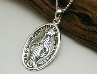Worth Maria Image Necklace Silver Men 925 Pendant Accessories Ocycrius Onicus Rosary