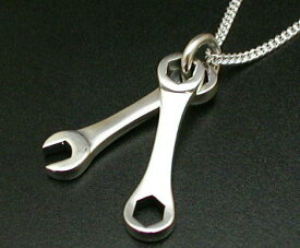 工具 スパナ ネックレス シルバーネックレス シルバーペンダント メンズネックレス シルバー925 シルバーアクセサリー 喜平チェーン付き