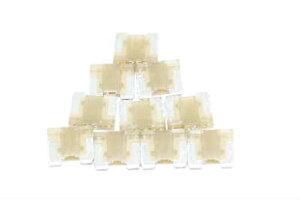 低背 ヒューズ 7.5A茶 10個 送料無料640円★62-1118 Suzuki Daihatsu Isuzu Toyota Honda