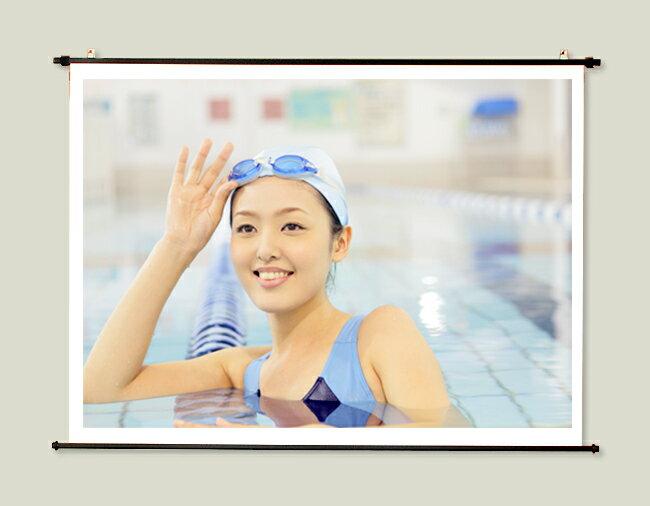 プロジェクタースクリーン80インチ (4:3)タペストリー式 HS-80ホワイトマットスクリーン日本製