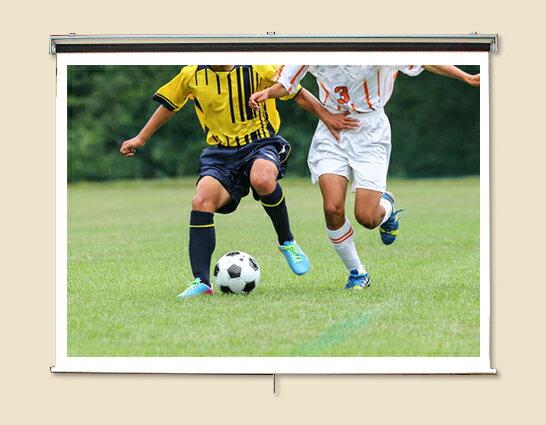 プロジェクタースクリーン110インチ (4:3)ロール巻き上げ式 SR-HS110ホワイトマットスクリーン日本製
