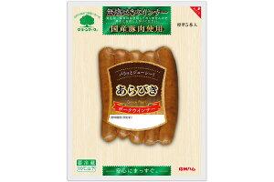 【信州ハム】グリーンマーク 国産国産豚肉使用あらびきポークウインナー 100g