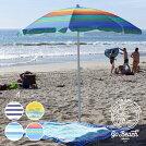 GOBEACHゴービーチビーチパラソルBEACHPARASOL2020春夏ブルー/ネイビー/イエローワンサイズ【evi】