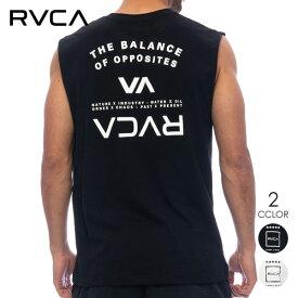 RVCA メンズ タンクトップ BALANCE ARC TANK ブランド おしゃれ バックプリント ストリート 格闘技 トレーニング スポーツ ブラック/ホワイト【2021年夏モデル】BB041354