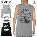 【夏SALE/20%OFF】 RVCA SPORTS メンズ タンクトップ RVCA PE TANK ハイブリッドタンク ブランド おしゃれ 格闘技 トレーニング トレーニングウェア トレーニングタンク バックプリント ブラック/ホワイト/グレー S/M/L/XL【2021年夏モデル】BB041-859 【evi】