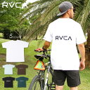 【 SUMMER SALE 30%OFF 】 RVCA ルーカ Tシャツ メンズ BACK RVCA TEE 2020春夏 ブラック/ブラウン/グリーン/ライトブルー/ホワイト S…