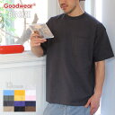 【 SUMMER SALE 10%OFF 】 GOODWEAR グッドウェア Tシャツ メンズ USAコットンビッグ無地ポケットT 2W7-3505 2020春夏 ブラック/チャ…