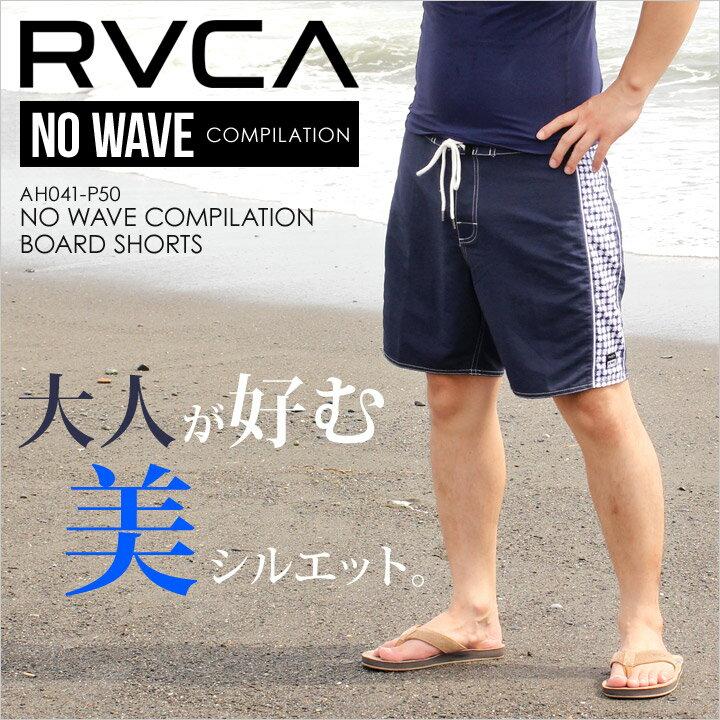 サーフパンツ メンズ RVCA NO WAVE COMPILATION BOARD SHORTS - AH041-P50- AH041P50 【 ルーカ ロゴ シンプル ギンガムチェック 柄 ネイビー サーフ スケート ストリート 水着 春夏 】 【evi】