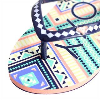 ビーチサンダルキッズROXYRGPEBBLESV-TSD171031C【ロキシーサンダルガールズロゴドットエキゾチックボタニカル柄かわいい女の子靴172017夏】【日本正規取扱店】