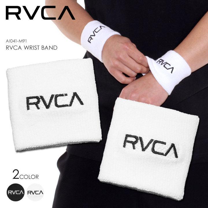 RVCA リストバンド メンズ RVCA WRIST BAND AI041-M91 2018春 ブラック/ホワイト ワンサイズ 【VA SPORTS】【evi】