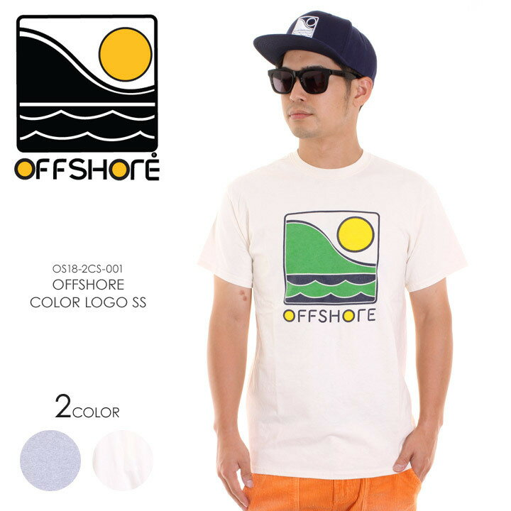 OFFSHORE オフショア Tシャツ メンズ OFFSHORE COLOR LOGO S/S OS18-2CS-001 2018夏 グレー/ナチュラル S/M 【Sold Out】