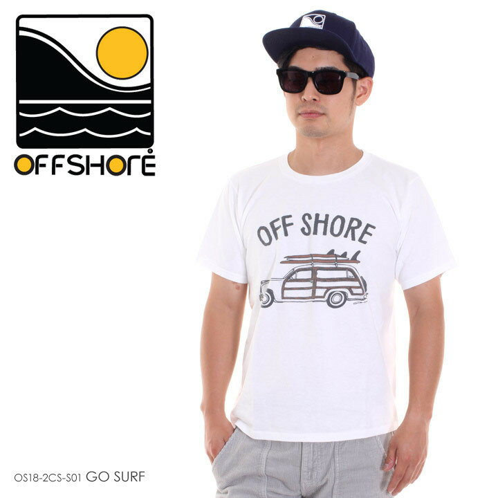 OFFSHORE オフショア Tシャツ メンズ GO SURF OS18-2CS-S01 2018夏 ホワイト S/M/L