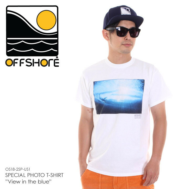 OFFSHORE オフショア Tシャツ メンズ SPECIAL PHOTO T-SHIRT VIEW IN THE BLUE OS18-2SP-US1 2018夏 ホワイト S/M 【Sold Out】