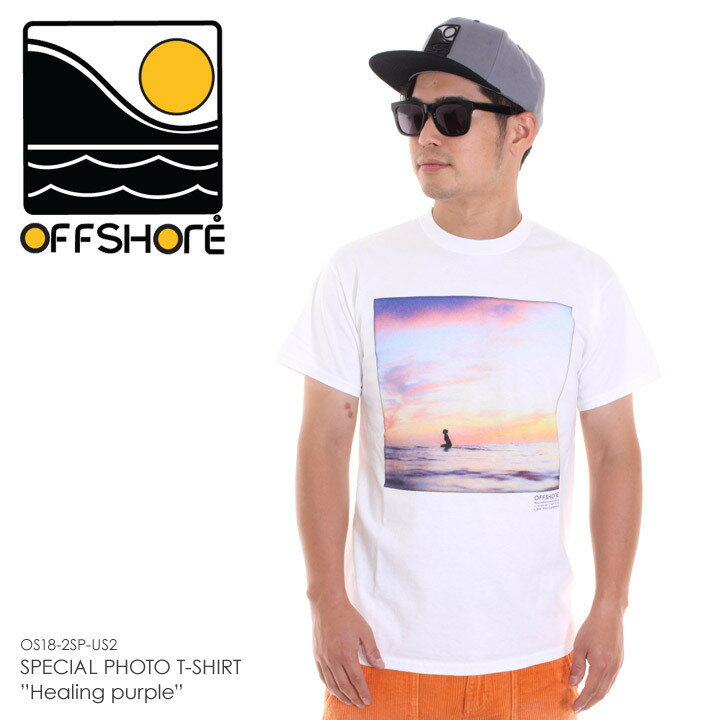 OFFSHORE オフショア Tシャツ メンズ SPECIAL PHOTO T-SHIRT HEALING PURPLE OS18-2SP-US2 2018夏 ホワイト S/M 【Sold Out】4320