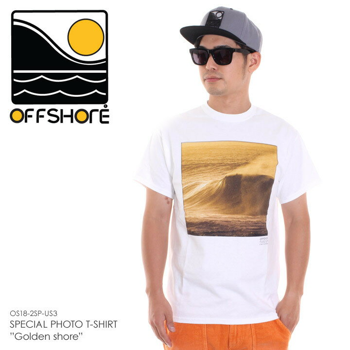 OFFSHORE オフショア Tシャツ メンズ SPECIAL PHOTO T-SHIRT GOLDEN SHORE OS18-2SP-US3 2018夏 ホワイト S/M 【Sold Out】