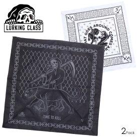 LURKING CLASS ラーキングクラス バンダナ メンズ 2PACK BANDANA ST19SA01 2019春夏 ホワイト/ブラック ワンサイズ 【evi】