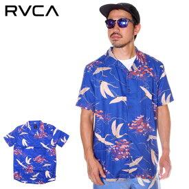 RVCA ルーカ シャツ メンズ BLUE CRANE SS 2019年春夏 ブルー S/M/L 【evi】