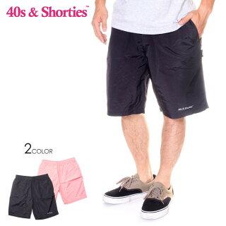 40S&SHORTIESフォーティーズ&ショーティーズショーツメンズCORESHORTS2019春夏ブラック/ピンクM/L