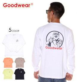 \エントリーでP5倍 [9月15日限定]/ GOODWEAR グッドウェア Tシャツ ロンT メンズ MISTER PT. L/S TEE 2019秋冬 ブラック/ホワイト/グレー/ベージュ/オレンジ/グリーン M/L/XL