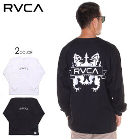 RVCA ルーカ Tシャツ ロンT メンズ CREST LS TEE 2019秋冬 ブラック/ホワイト S/M/L 【evi】