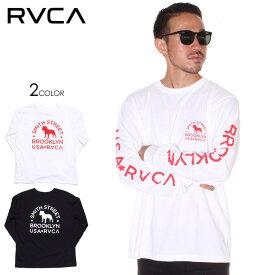 RVCA ルーカ ロンT メンズ SMITH STREET WICKS LS 2019秋冬 ブラック/ホワイト S/M/L 【evi】