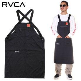 【全品10%OFFクーポン発券中】 RVCA ルーカ エプロン メンズ SMITH STREET APRON 2019秋冬 ブラック フリーサイズ