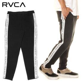 【 SUMMER SALE 20%OFF 】 RVCA ルーカ スウェットパンツ メンズ TAPE LINE LEGGINGS PANTS 2020春夏 ブラック S/M/L 【SPORTS WEAR】 【evi】