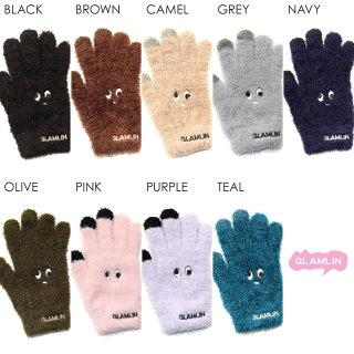 GLAMLINグラムリン手袋レディースメンズFIVE-FINGER2018秋冬ブラック/ブラウン/キャメル/グレー/ネイビー/オリーブ/ピンク/パープル/ブルーワンサイズ