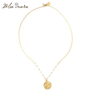 BLEE INARA ブリーイナラ ネックレス レディース 18k Gold Plated Chain Necklace with Pink Opal Beads and Dove of Hope ゴールド