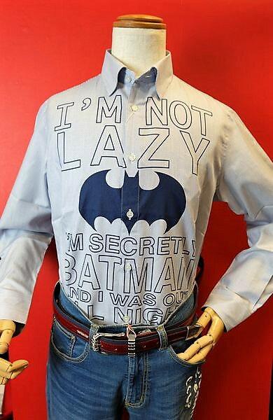 【セール35%OFF】【2018春夏新作】 カステルバジャック CASTELBAJAC 【カジュアルシャツ】【メンズ】【バットマン】【ブランド】【ボタンダウンシャツ】【メンズファッション】【カステルバジャック服】 バットマン隠れボタンダウンシャツ ブルー