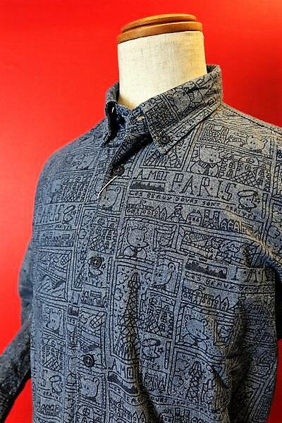 【セール35%OFF】【2018春夏新作】 カステルバジャック CASTELBAJAC 【カジュアルシャツ】【メンズ】【ブランド】【ボタンダウンシャツ】【メンズファッション】【カステルバジャック服】 アートボタンダウンシャツ ブルー