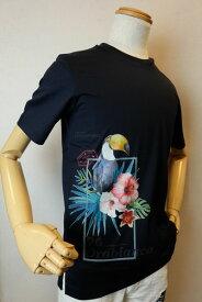 【セール35%OFF】 オロビアンコ 【半袖Tシャツ】【2020春夏新作】【イタリア】【メンズウェア】【カットソー】【オロビアンコ服&バッグ】 プリント半袖Tシャツ ネイビー OROBIANCO