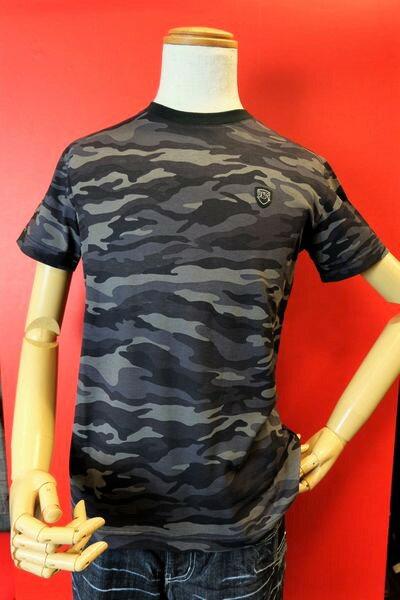 【バラシモーダ】【barassimoda】【半袖Tシャツ】【春夏アウトレットセール50%OFF】【メンズ】【ブランド】【Tシャツ】【メンズファッション】【バラシ服】 迷彩柄半袖Tシャツ ブラック