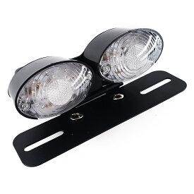 バイク汎用 LEDテールランプ ナンバーステー付き 14球内蔵 12V