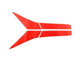 C-HR CHR ZYX10/NGX50 テールランプステッカー カバー カーボン調 イメージチェンジ 傷防止 赤 4枚