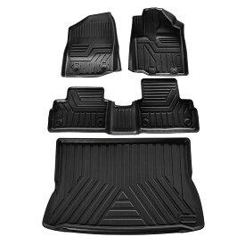 トヨタ ライズ ダイハツ ロッキー 3D フロアマット&ラゲッジマット RAIZE/ROCKY H31.11~現行 立体カーマット 防水 滑り防止 セカンドマット 耐汚れ TPO素材 カスタムパーツ 4Pセット
