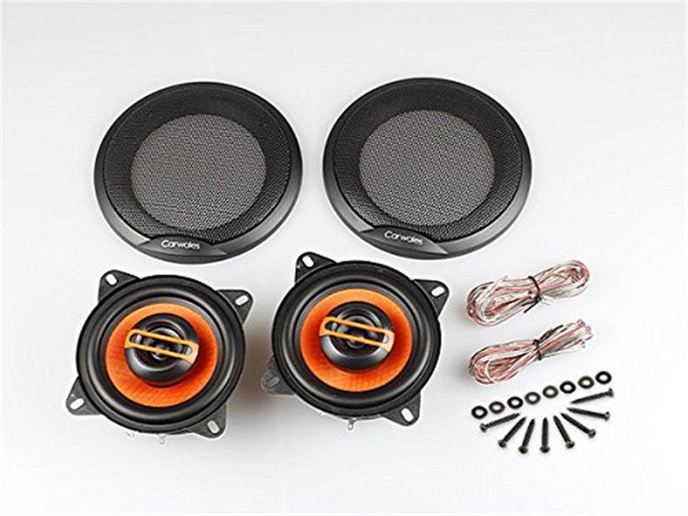 2Way(コアシャル)4吋 橙色防水 スピーカーセット (E4) 2個セット コアシャル スピーカー