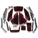 外装 カウル ワインレッド アッパー+メッキ アンダー フュージョン MF02
