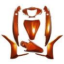 ホンダDIOディオ110(JF31)純正タイプ外装カウル7点セット(オレンジ色)