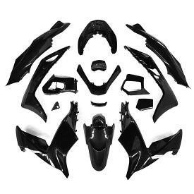 ホンダ PCX PCX125 PCX150 (JF56/KF18) 外装カウル カウルキット 外装セット 黒色 15点セット