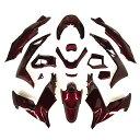 【特】ホンダ PCX PCX125 PCX150 (JF56/KF18) 外装カウル カウルキット 外装セット ワインレッド 15点セット