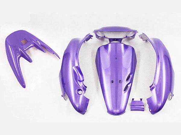 ホンダ DIO ライブディオ/ZX(AF35-1型) 外装カウル 6点セット 紫色ラベンダー